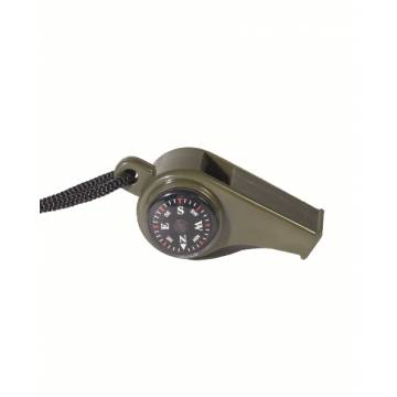 Mil-Tec Whistle w/ Compass Thermometer