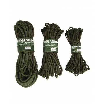 Mil-Tec 5mm Commando Rope 15M - Olive