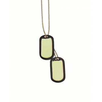 Mil-Tec US Dog Tag Set w/ Silencer - Gold