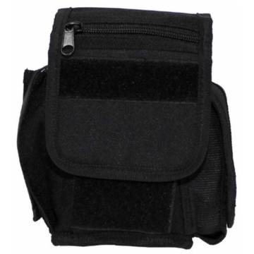 MFH Belt Pouch 3 Compartments - Black