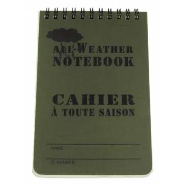 MFH Waterproof Writing Pad 10x15cm