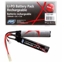 ASG Battery Li-Po - 7,4V 1300mAh 25C - 2 Split