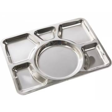 Mil-Tec Canteen Plate Sixfold Stainless Steel