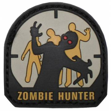 PVC Zombie Hunter Velcro Patch