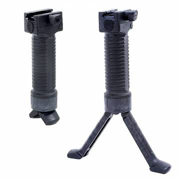 Vertical Grip with Integated Bipod - Black