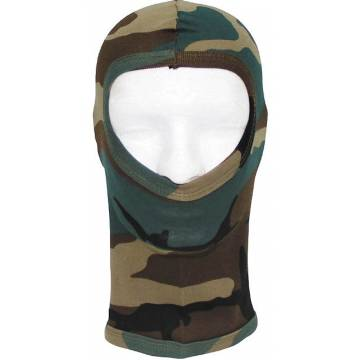 MFH Balaclava One Hole Cotton - Woodland