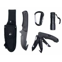 MFH Knife Set & Multi Tools - Black