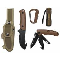 MFH Knife Set & Multi Tools - Coyote