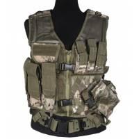 Mil-Tec USMC Crossdraw Tactical Vest - Multicam