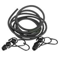 Mil-Tec Elastic Shock Cords w/ 6 Hooks - Black