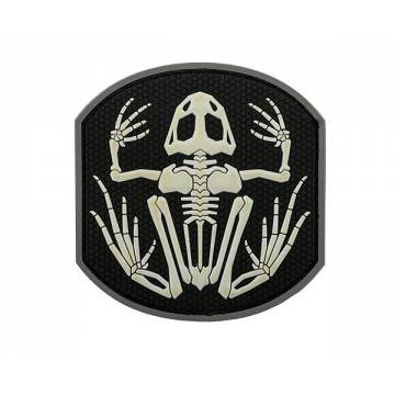 PVC Frog Skeleton Velcro Patch 1
