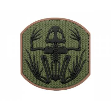 PVC Frog Skeleton Velcro Patch 2