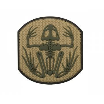 PVC Frog Skeleton Velcro Patch 3