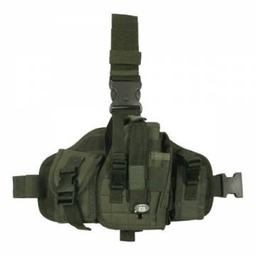MFH Leg Platform w/ Pistol Holster / Pouches - Olive