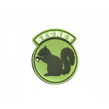 PVC Secret Squirrel Velcro Patch