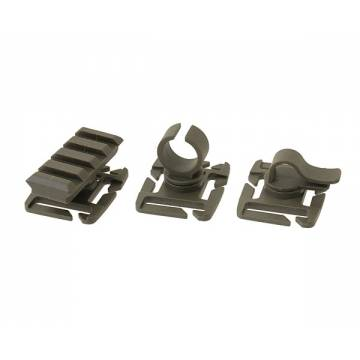 Molle Attachment Clip Pack - Olive