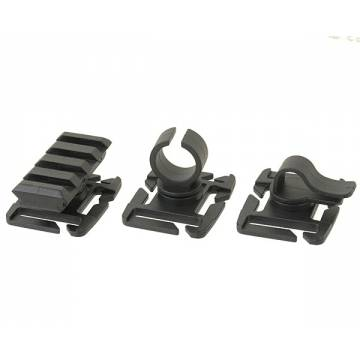 Molle Attachment Clip Pack - Black