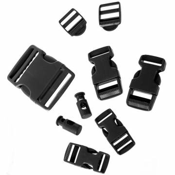 Mil-Tec Buckle Set 9 pcs - Black