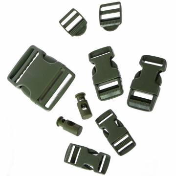 Mil-Tec Buckle Set 9 pcs - Olive