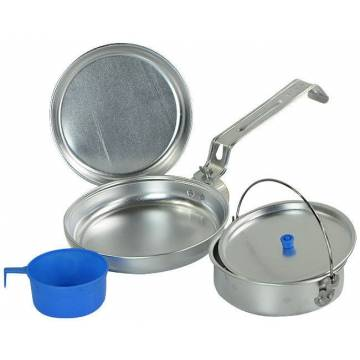 Mil-Tec Cook Set Polished Aluminium 1 Person