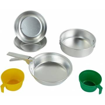 Mil-Tec Cook Set Polished Aluminium 2 Person