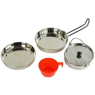 Mil-Tec Cook Set Stainless Steel 1 Person