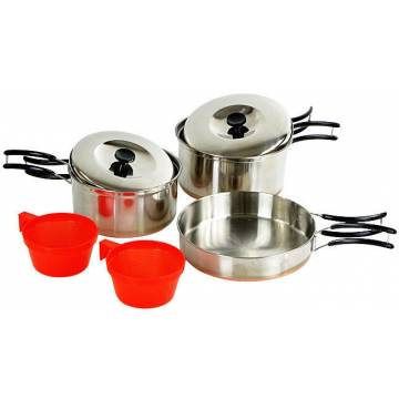 Mil-Tec Cook Set Stainless Steel 2 Person
