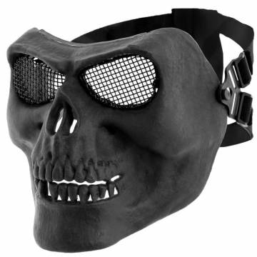 MFH Skull Skeleton Protector Mask - Black