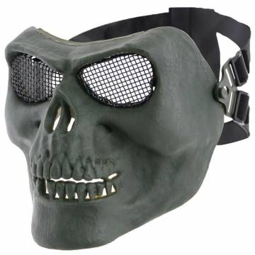 MFH Skull Skeleton Protector Mask - Olive