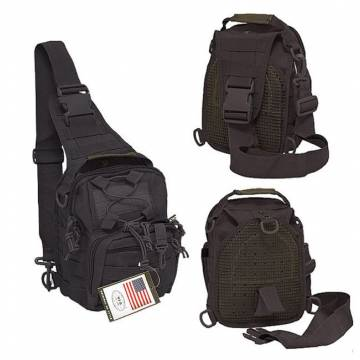MFH Tactical Shoulder Molle Bag - Black