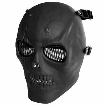 MFH Skull Skeleton Full Protector Mask - Black