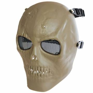 MFH Skull Skeleton Full Protector Mask - Coyote