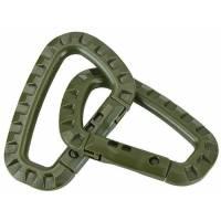 Mil-Tec Carabiner ABS (2 Pcs) Olive