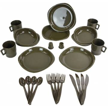 MFH Outdoor Plastic Mess Kit - Olive