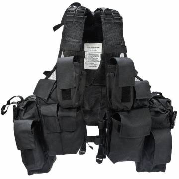 Mil-Tec South African Assault Vest - Black
