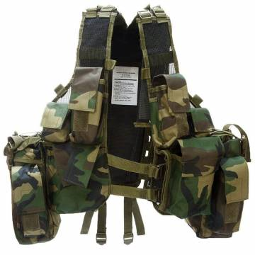 Mil-Tec South African Assault Vest - Woodland
