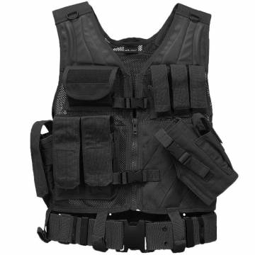 Mil-Tec USMC Crossdraw Tactical Vest - Black