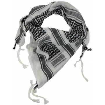 Mil-Tec Shemagh 110x110cm - White / Black