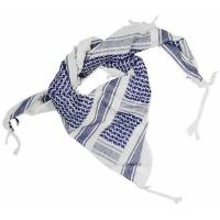 Mil-Tec Shemagh 110x110cm - White / Blue