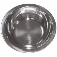MFH Bowl Flat 21x2,4cm Stainless Steel