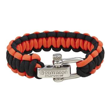 Pentagon Survival Bracelet 2.0 - Black / Red