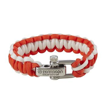 Pentagon Survival Bracelet 2.0 - Red / White
