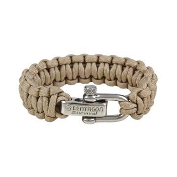 Pentagon Survival Bracelet 2.0 - Khaki