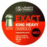 JSB Exact King Heavy MKII 6,35mm (2,2g) 300pcs