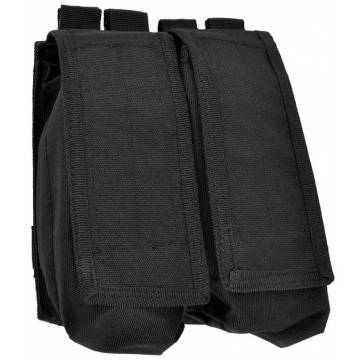 Mil-Tec Double AK47 Magazine Pouch - Black
