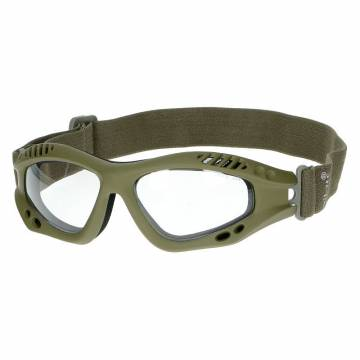 Mil-Tec Commando Air Pro Goggles - Olive / Clear