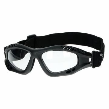 Mil-Tec Commando Air Pro Goggles - Black / Clear