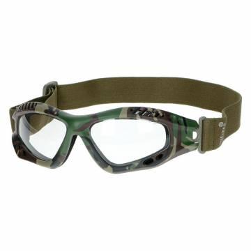 Mil-Tec Commando Air Pro Goggles - Woodland / Clear