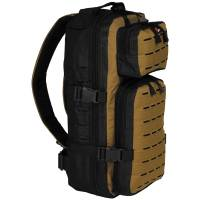 MFH Assault Travel Backpack - Black / Coyote