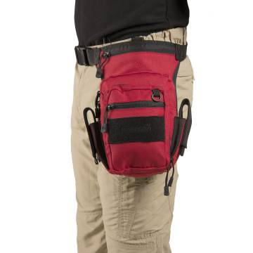 Pentagon MAX-S 2.0 Thigh Pouch - Black / Red